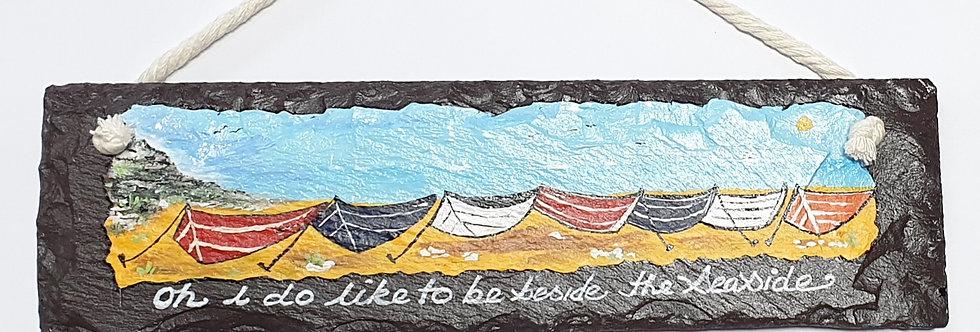 Seaside Reclaimed Slate Sign