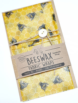 Beeswax Sandwich Wrap (honeycomb and bees)