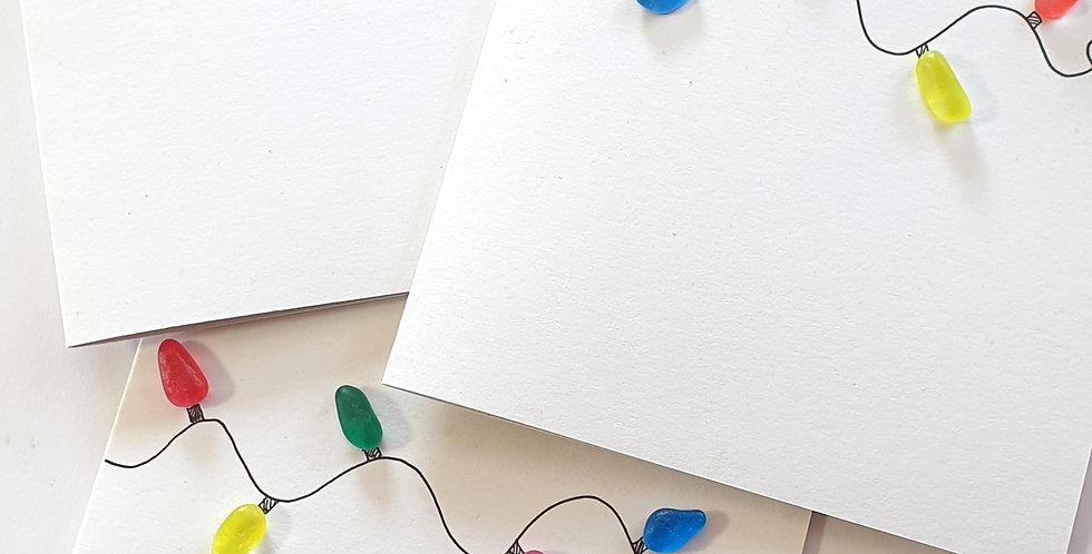 Sea Glass Greetings Cards - Fairy Lights