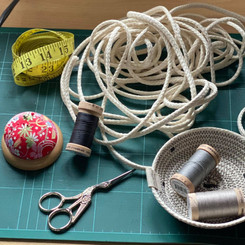 All the ingredients for an eco-friendly, ethical Hemp Rope Bowl