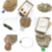 Seaglass earrings, bracelets,pendants, cufflinks, all included the free postage offer.