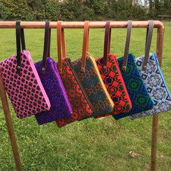 Reclaimed, recycled Welsh wool purses