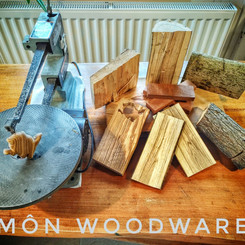 The island of Anglesey hand cut from sustainable hardwood and bamboo