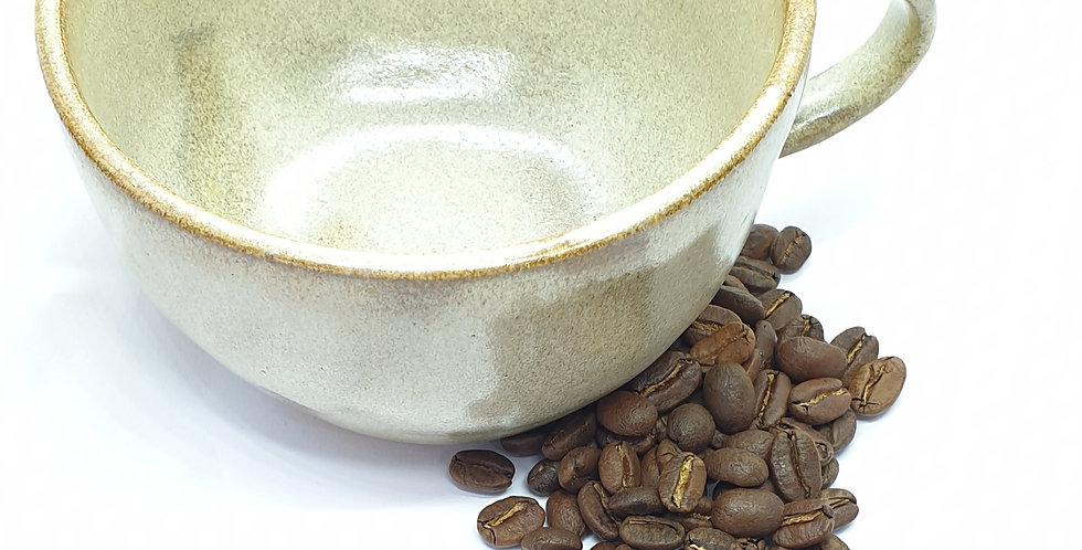 Large Handmade Cappuccino Mug