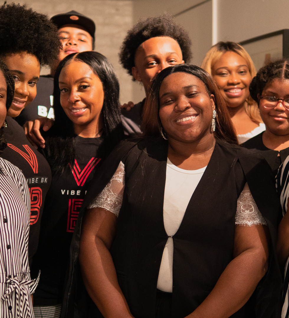 VIBE Academy 2020 (left ->right) Alex T, Jasmine, Destin M, Latoya, Kayla, Jaelen P, Brianna, Janaal D, Asher T