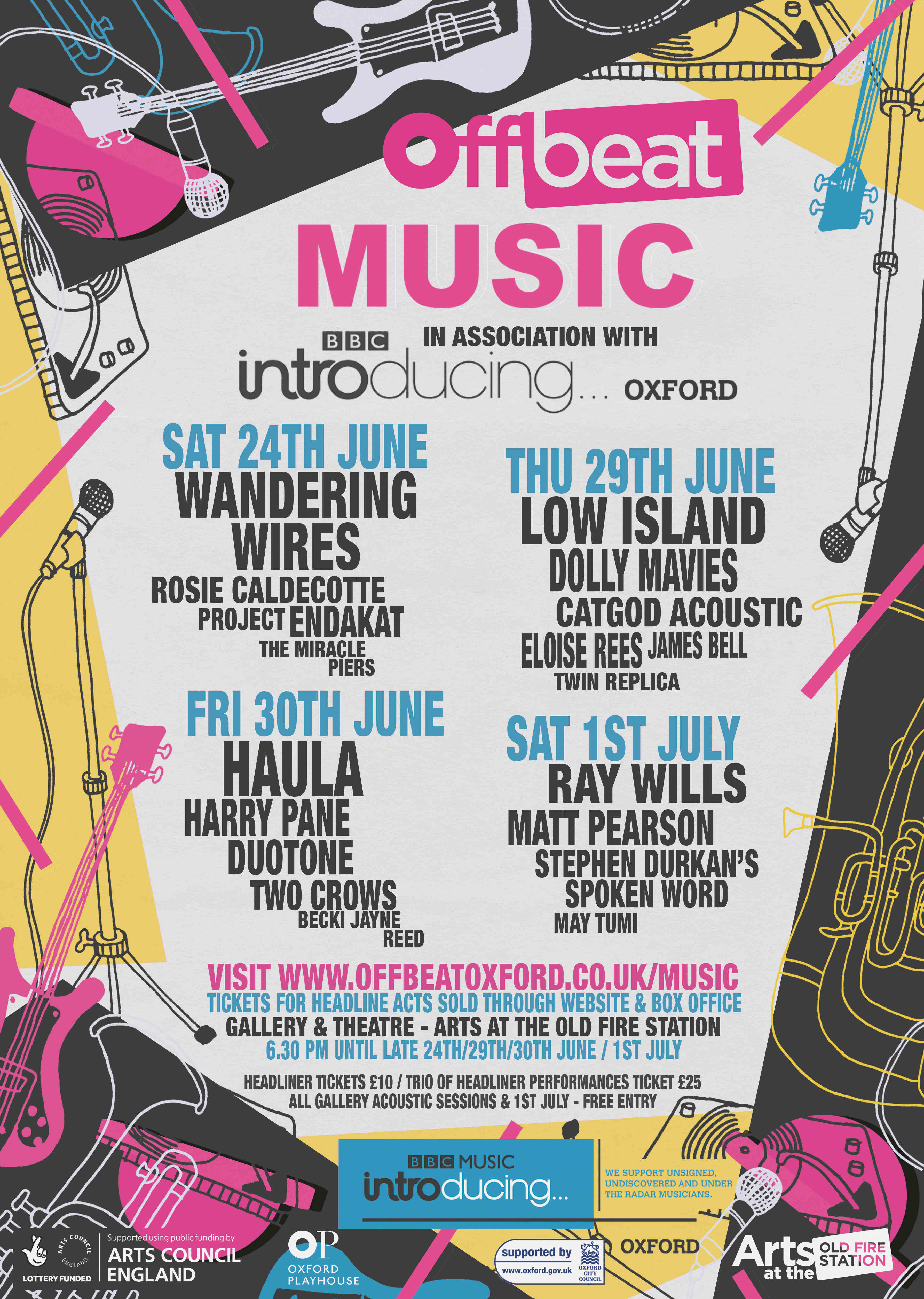 Line-up poster Off Beat Festival
