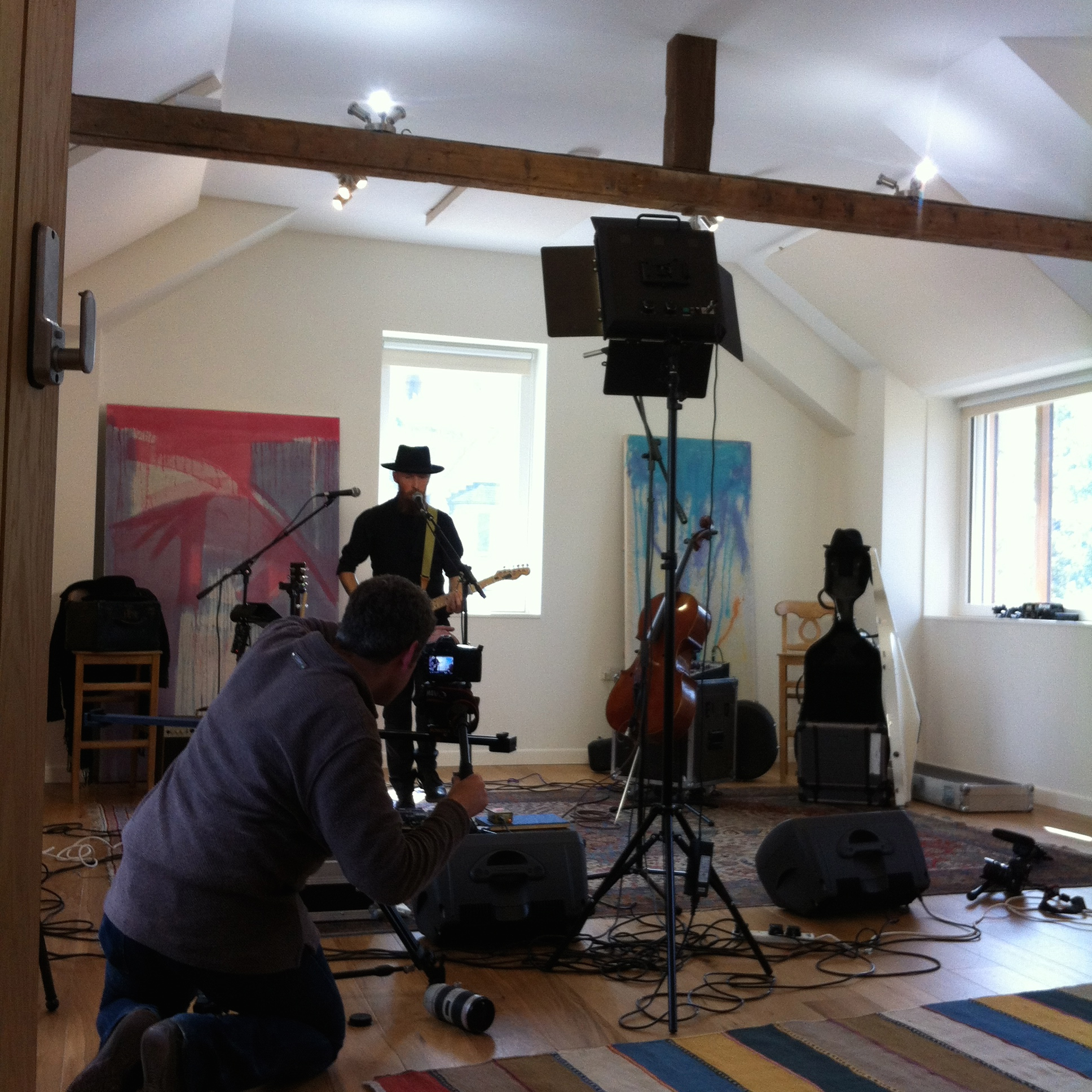 Recording live in Stroud
