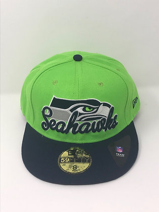 Sz 8 Seattle Seahawks Fitted Hat