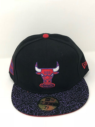 Sz 7 5/8 Chicago Bulls Fitted Hat
