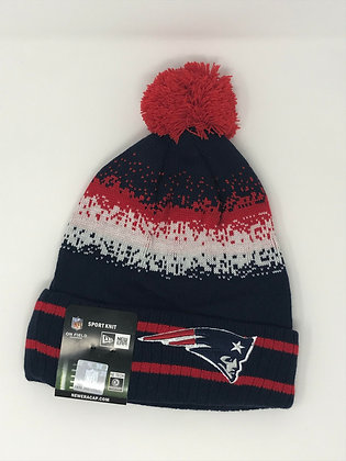 New England Patriots Pom Knit Beanie