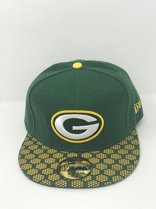 Sz 7 3/4 Green Bay Packers Fitted Hat