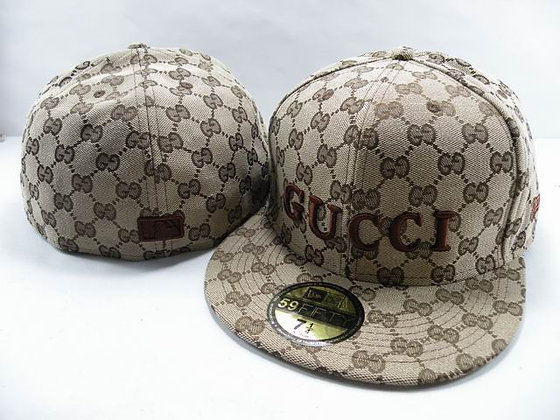 Gucci fitted hat sz 7 1/4 - Tan