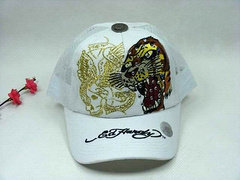 Ed Hardy Adjustable hat - White