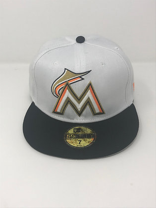Sz 7 Miami Marlins Fitted Hat