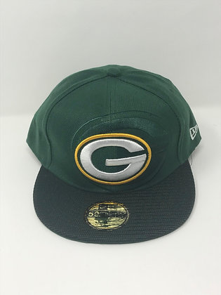 Sz 8 Green Bay Packers Fitted Hat