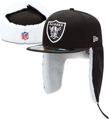 Sz 7 1/2 Oakland Raiders Winter hat