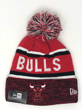 Chicago Bulls Pom Knit Beanie