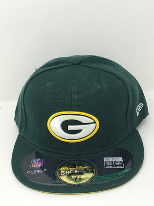 Sz 7 5/8 Green Bay Packers Fitted Hat
