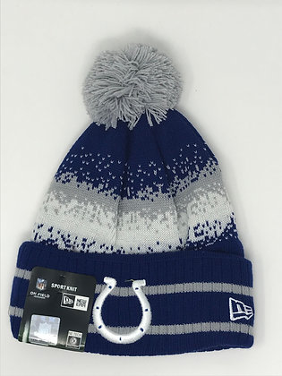 Indianapolis Colts Pom Knit Beanie