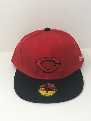 Sz 8 Cincinnati Reds Fitted Hat