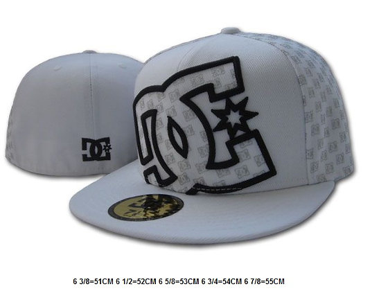Sz 6 1/2 White DC fitted hat