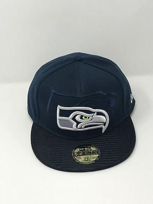 Sz 7 3/4 Seattle Seahawks Fitted Hat