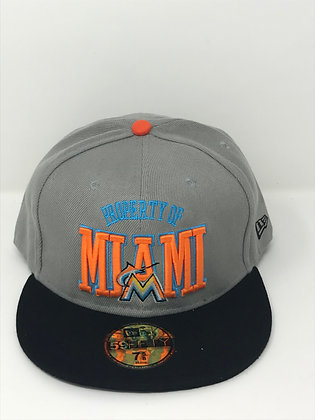 Sz 7 5/8 Miami Marlins Fitted Hat