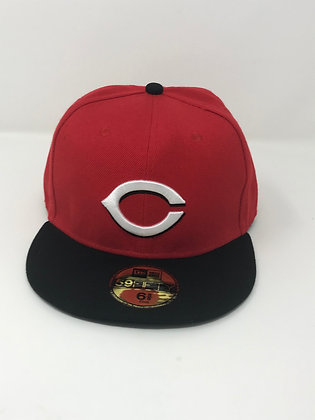 Sz 6 5/8 Cincinatti Reds Youth Fitted Hat