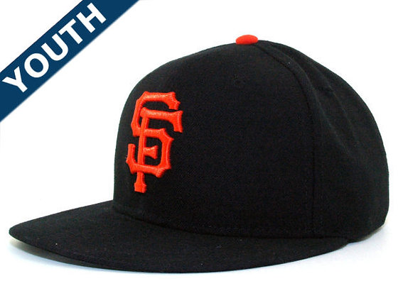 Sz 6 1/2 Black/ orange SF Giants  fitted hat