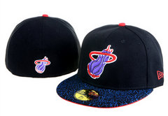 Sz 7 3/8 Miami Heat fitted hat