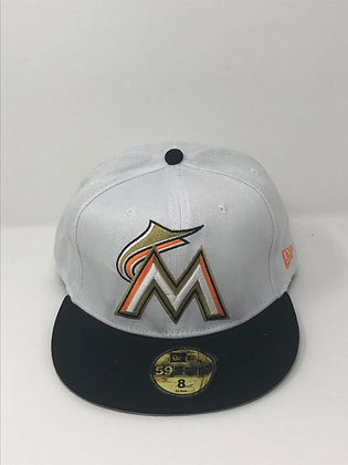 Sz 8 Miami Marlins fitted hat