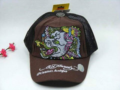 Ed Hardy Adjustable hat - Brown