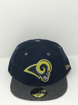 Sz 7 3/4 Los Angeles Rams Fitted Hat