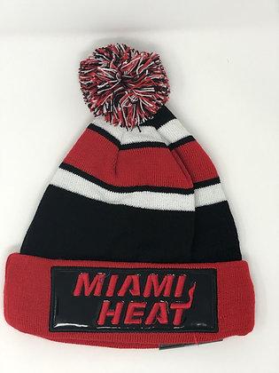 Miami Heat Pom Knit Beanie