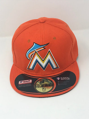 Sz 7 1/8 Miami Marlins Fitted Hat