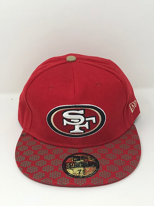 Sz 7 5/8 San Francisco 49ers Fitted Hat