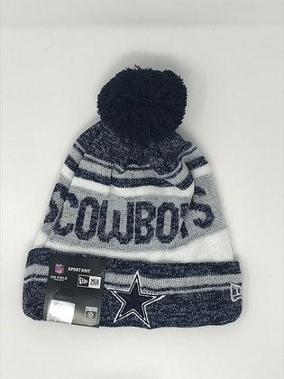 Dallas Cowboys Pom Knit Beanie