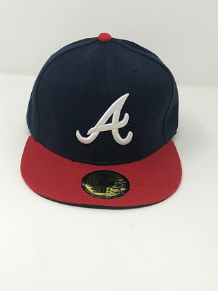 Sz 6 3/4 Atlanta Braves Youth Fitted Hat