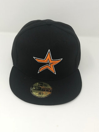 Sz 6 1/2 Houston Astros Youth Fitted Hat