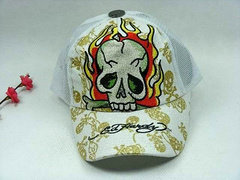 Ed Hardy Adjustable hat - White