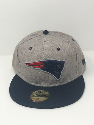Sz 8 New England Patriots Fitted Hat