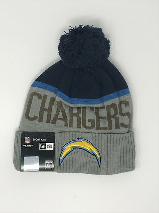 Los Angeles Chargers Pom Knit Beanie