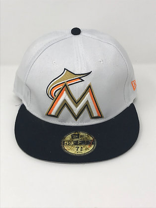 Sz 7 3/8 Miami Marlins Fitted Hat