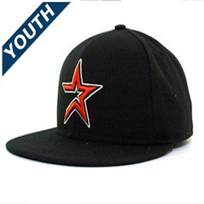 Sz 6 3/4 Houston Astros youth Fitted hat