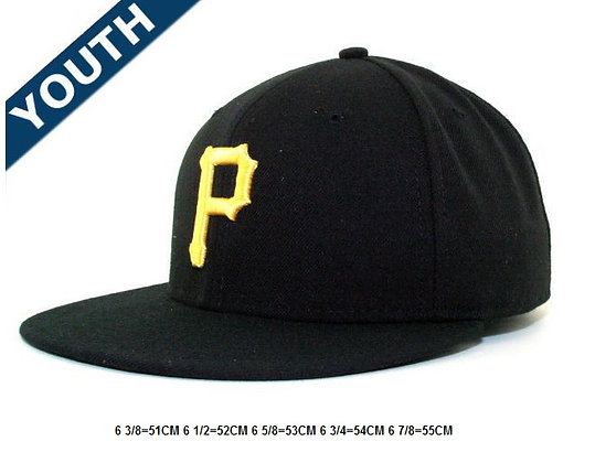 Sz 6 5/8 Blk/yellow Pittsburgh Pirates fitted hat