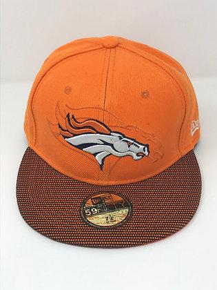 Sz 7 1/4 Denver Broncos Fitted Hat