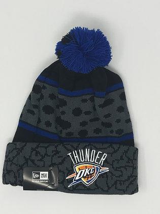 Oklahoma City Thunder Pom Knit Beanie