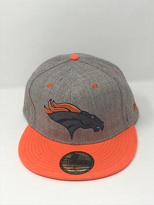 Sz 8 Denver Broncos Fitted Hat