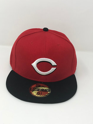 Sz 6 3/4 Cincinnati Reds Youth Fitted Hat