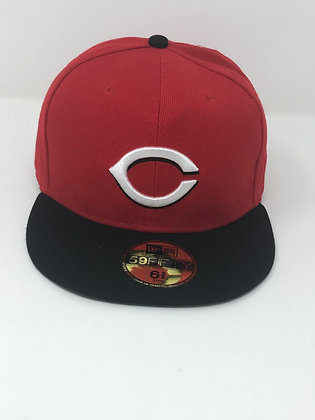 Sz 6 3/8 Cincinnati Reds Youth Fitted Hat